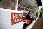 A members of the backroom staff taking checking notes in the home dugout at the City Ground, Nottingham before Nottingham Forest take on visitors Ipswich Town in an Npower Championship match. Forest won the match by two goals to nil in front of 22,935 spectators.