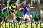 Johnny Buckley Kerry in action against Seamus O'Shea Mayo in the first round of the National Football League at Fitzgerald Stadium Killarney on Sunday.