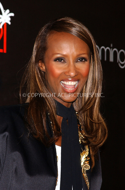 WWW.ACEPIXS.COM . . . . . ....NEW YORK, SEPTEMBER 7, 2005....Iman at Elle Magazine's 21st Birthday Bash held at Bloomingdale's.....Please byline: KRISTIN CALLAHAN - ACE PICTURES.. . . . . . ..Ace Pictures, Inc:  ..Craig Ashby (212) 243-8787..e-mail: picturedesk@acepixs.com..web: http://www.acepixs.com