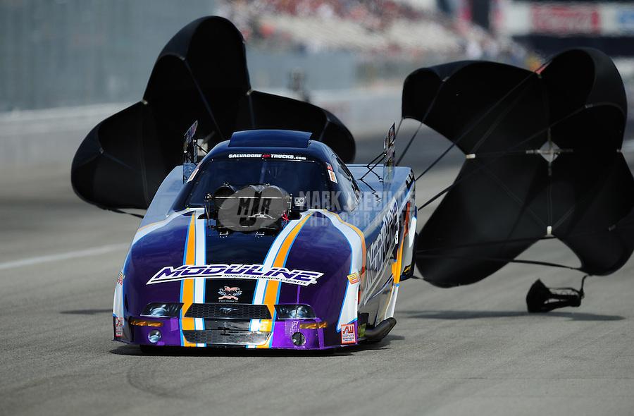 Nov. 13, 2011; Pomona, CA, USA; NHRA top alcohol funny car driver Paul Gill during the Auto Club Finals at Auto Club Raceway at Pomona. Mandatory Credit: Mark J. Rebilas-.