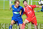 Tralee Dynamos David Conway and Limerick F.C.'s John O'Leary.
