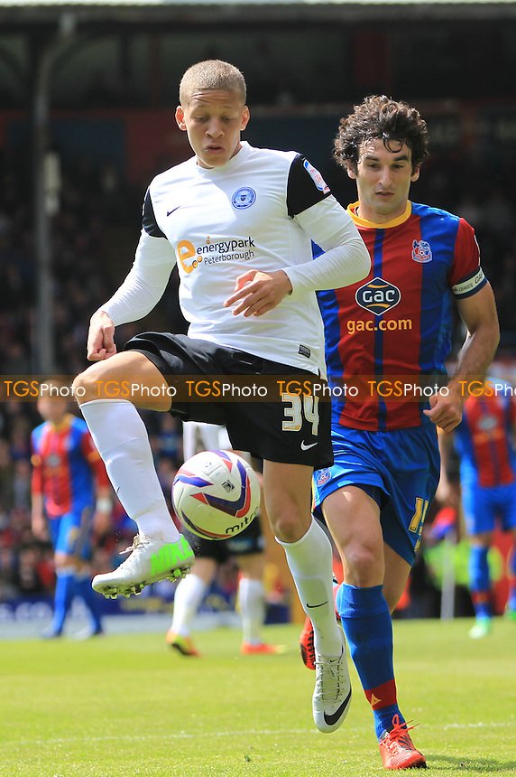 Dwight Gayle of Peterborough United - Crystal Palace vs Peterborough United - NPower Championship Football at Selhurst Park - 04/05/13 - MANDATORY CREDIT: Simon Roe/TGSPHOTO - Self billing applies where appropriate - 0845 094 6026 - contact@tgsphoto.co.uk - NO UNPAID USE