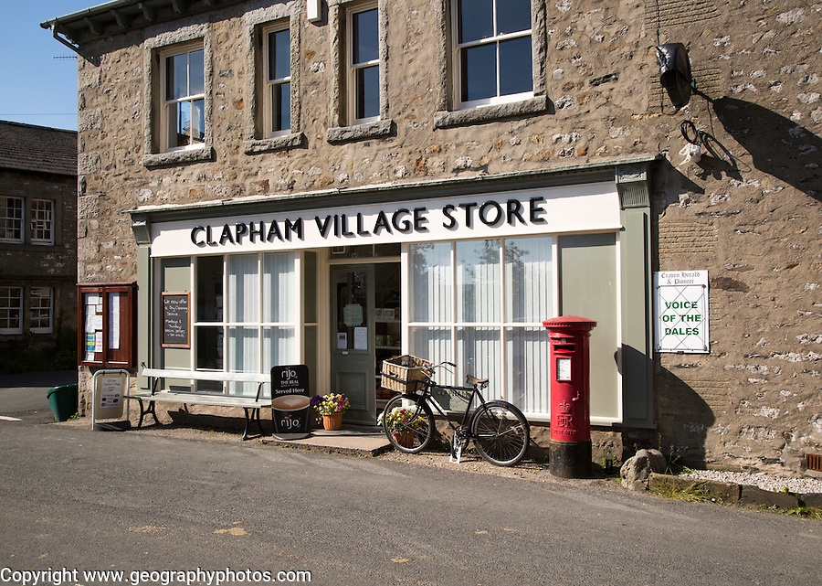 Clapham village stores shop, Clapham village, Yorkshire Dales national park, England, UK