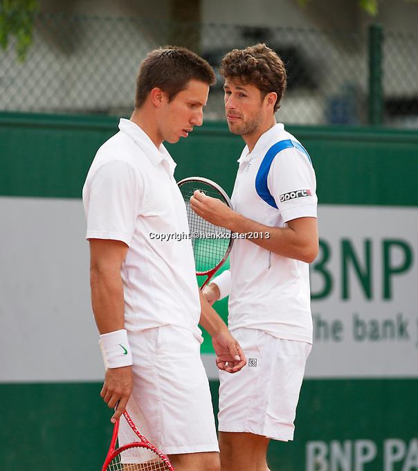 28-05-13, Tennis, France, Paris, Roland Garros, Doubbles Igor Sijsling and Robin Haase