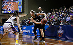 SIOUX FALLS, SD: MARCH 21:  Lauren Wolosik #24 of Indiana (PA) looks past Ashland defender Renee Stimpert #4 during their game at the 2018 Division II Women's Basketball Championship at the Sanford Pentagon in Sioux Falls, S.D. (Photo by Dick Carlson/Inertia)