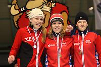 SCHAATSEN: HEERENVEEN: IJsstadion Thialf, 07-03-2008, VikingRace, Bo van der Werff (NED), Letitia de Jong (NED), Leonie Smit (NED), ©foto Martin de Jong