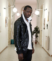 Italy / Sicilia / Caltanissetta / 16.3.2011 / Immigrant from Ghana in an refugees' shelter.<br />