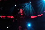 James Labrie, vocalist of the Dream Theater Band seen on stage during a performance in Tel Aviv, June 16 2009. Photo By : Tess Scheflan / JINI