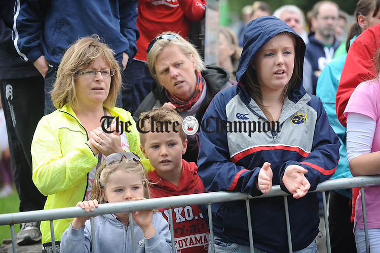 Keeping an eye on all the action during the Brian Boru Sprint Triathlon at Two-Mile-Gate,  Killaloe. Photograph by John Kelly.