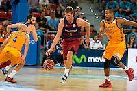 Herbalife Gran Canaria's players Albert Oliver and Eulis Baez and FC Barcelona Lassa player Pau Ribas and Justin Doellman during the final of Supercopa of Liga Endesa Madrid. September 24, Spain. 2016. (ALTERPHOTOS/BorjaB.Hojas) NORTEPHOTO.COM
