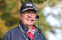 English and British through and through. TV spotter during the Final Round of the British Masters 2015 supported by SkySports played on the Marquess Course at Woburn Golf Club, Little Brickhill, Milton Keynes, England.  11/10/2015. Picture: Golffile | David Lloyd<br /> <br /> All photos usage must carry mandatory copyright credit (&copy; Golffile | David Lloyd)