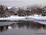late Winter pond scene, Park City, Utah
