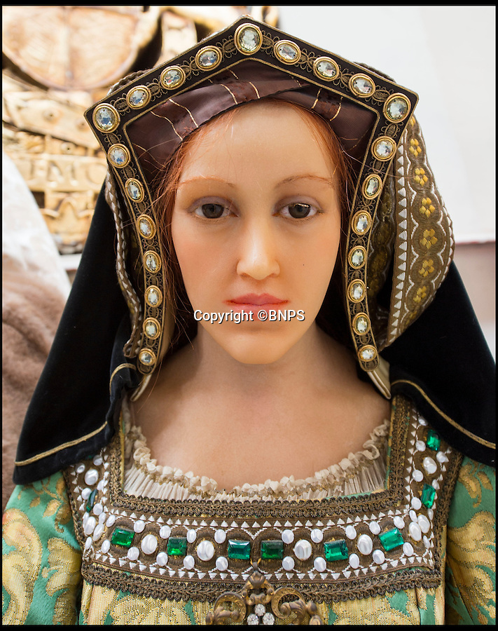 BNPS.co.uk (01202 558833)<br /> Pic: PhilYeomans/BNPS<br /> <br /> Wife 3: Jane Seymour.<br /> <br /> Henry VIII came face to face with his many wives at the Chippenham Auction Rooms in Wiltshire.<br /> <br /> A waxwork statue of Sir Winston Churchill has led a £20,000 sale of a bizarre assortment of lifelike figures of the great and the good.<br /> <br /> The life-size model of the wartime Prime Minister in his pomp sold for nearly £8,000 to a private individual who plans to put it in his living room for display.<br /> <br /> The next highest figure was that of a highly-realistic Henry VIII - and everyone of his six wives. The royal group sold for £3,600 to a television props company.<br /> <br /> Other waxworks that sold included a figure of a Chelsea Pensioner, Tom Thumb dressed as Napolean Bonarpate and Queen Alexandra.<br /> <br /> The figures were all sold by the owners of Yesterday's World, a provincial museum dedicated to British social history. The attraction, in Great Yarmouth, Norfolk, went out of business last November.