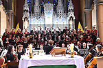 The Tredagh Singers with orchestra  and soloists performing at the Mozart Coronation Mass in the Augustinian Church. Photo:Colin Bell/pressphotos.ie