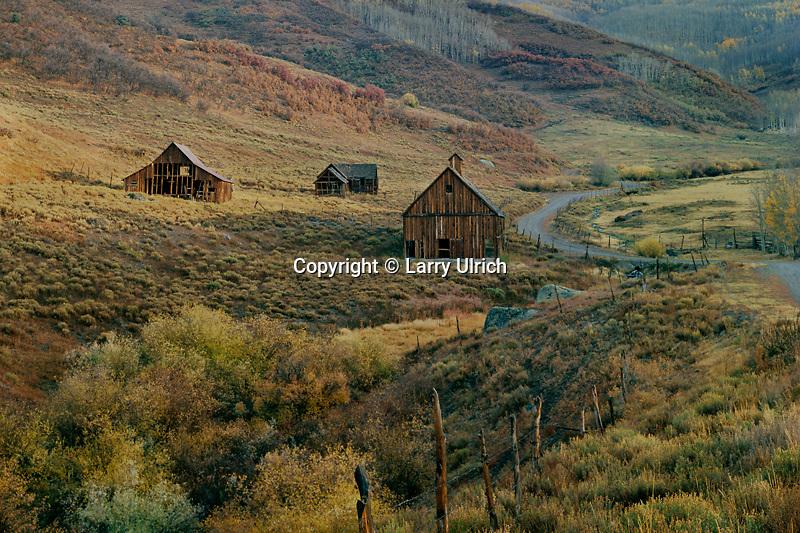 Old homestead near Telluride<br /> Lost Dollar Road<br /> San Juan Mountains<br /> Colorado