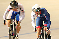 Picture by SWpix.com - 02/03/2018 - Cycling - 2018 UCI Track Cycling World Championships, Day 3 - Omnisport, Apeldoorn, Netherlands - Men's Sprint 1/16 - Chaebin Im of Korea and Ryan Owens of Great Britain