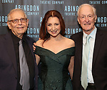 Richard Maltby Jr., Donna Murphy and David Shire attends the Abingdon Theatre Company Gala honoring Donna Murphy on October 22, 2018 at the Edison Ballroom in New York City.