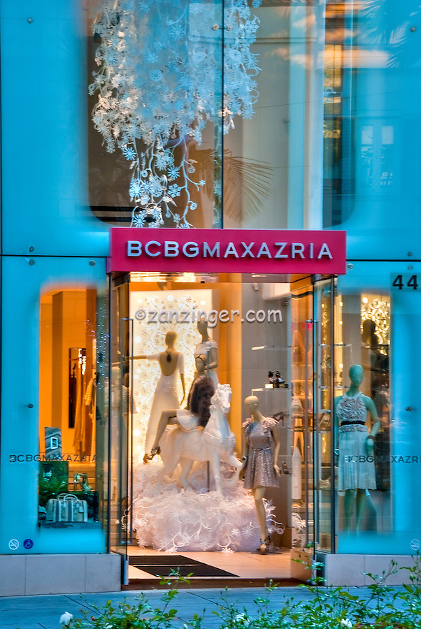 BCBGMAXAZRIA,Beverly Hills CA; Rodeo Drive; Luxury Shopping; Los Angeles CA; Travel; Destination; View; Unique; Quality , Vertical image