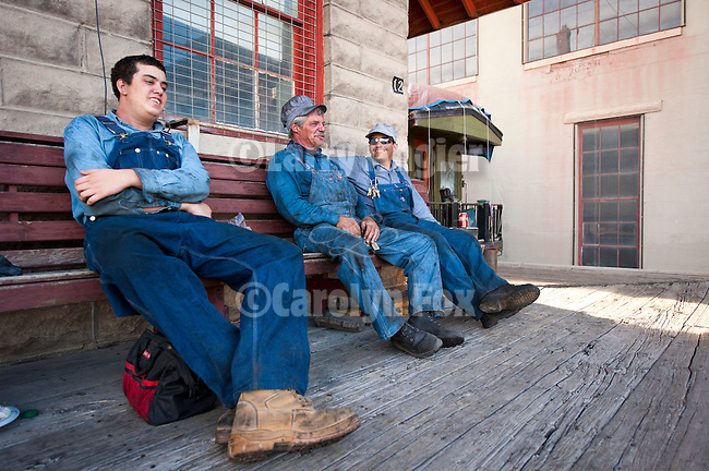 Locomotive crew at the end of the day, Nevada Northern Railway, East Ely yards, Nev.