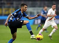 Calcio, Serie A: Inter Milano - AS Roma, Giuseppe Meazza stadium, December 6, 2019.<br /> Inter's Matias Vecino in action during the Italian Serie A football match between Inter and Roma at Giuseppe Meazza (San Siro) stadium, on December 6, 2019.<br /> UPDATE IMAGES PRESS/Isabella Bonotto