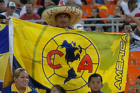 Club America Fan. DC United defeated Club America 1-0 to secure one of the two semifinal berths in SuperLiga group B, at RFK Stadium in Washington DC, Sunday July 29, 2007.