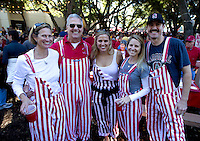 Donna Garton class of 79, Michael Garton MBA 74, Jillian Garton class of 2013, Jessie Szymanski and B.J. Szymanski  attend a Tail Party before  Saturday, November 23, 2013, Big Game at Stanford University.