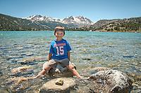 My Son enjoying a day at beautiful June Lake