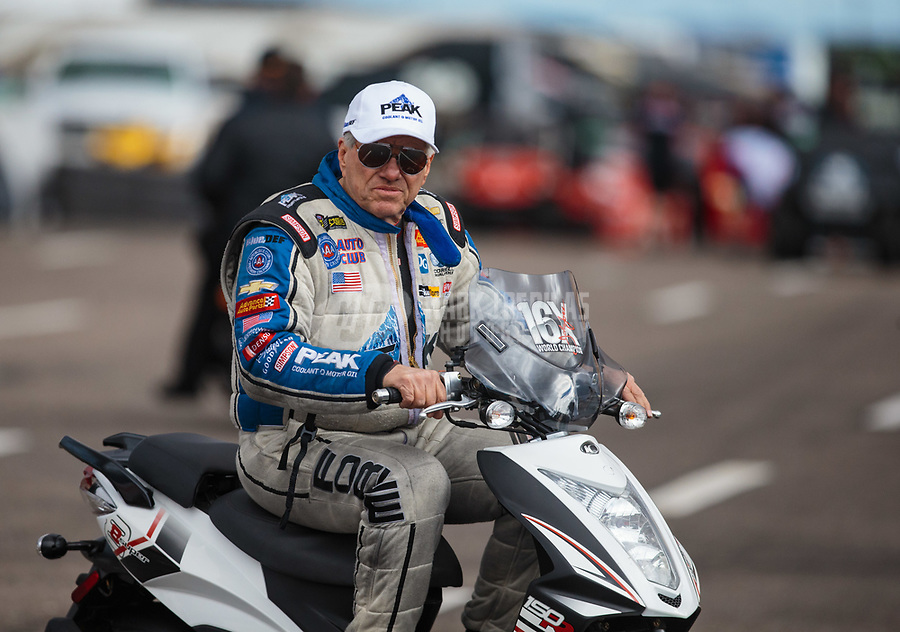 Feb 22, 2019; Chandler, AZ, USA; NHRA funny car driver John Force during qualifying for the Arizona Nationals at Wild Horse Pass Motorsports Park. Mandatory Credit: Mark J. Rebilas-USA TODAY Sports