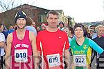 Frank O'Carroll, Conor McMahon Millstreet and Suzanne O'Sullivan An Riocht on the line at the Jingle Run in Killorglin on Saturday