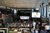 Arbeitsbereich für die Kaderbekanntgabe im Fußballmuseum - 15.05.2018: Vorläufige WM-Kaderbekanntgabe, Deutsches Fußballmuseum Dortmund