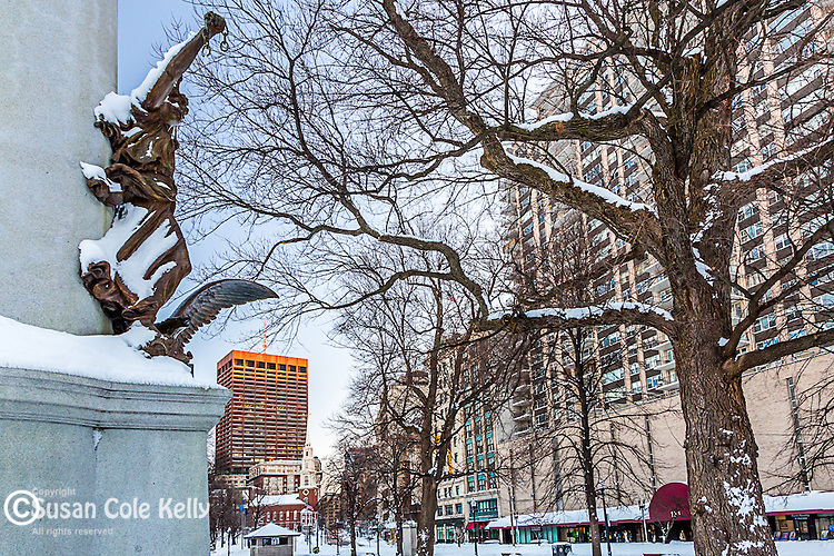 The Boston Massacre / Crispus Attucks Monument in Boston Common, Boston, Massachusetts, USA (sculptor Robert Adolf Kraus, 1888)