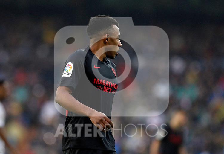 Sevilla FC's Jules Kounde during La Liga match. Jan 18, 2020. (ALTERPHOTOS/Manu R.B.)