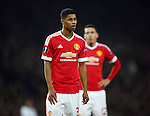 Marcus Rashford of Manchester United during the UEFA Europa League match at Old Trafford. Photo credit should read: Philip Oldham/Sportimage