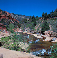 Oak Creek Canyon near Sedona, Arizona, USA - Slide Rock in Slide Rock State Park