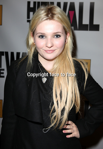 """Abigail Breslin attending the New York Premiere of the Opening Night Performance of """"Hit The Wall"""" at the Barrow Street Theatre in New York City on 3/10/2013...Credit: McBride/face to face"""