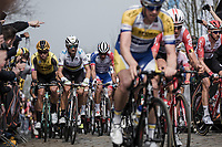 World Champion Alejandro Valverde (ESP/Movistar) up the 'Oude Kwaremont'<br /> <br /> <br /> 103rd Ronde van Vlaanderen 2019<br /> One day race from Antwerp to Oudenaarde (BEL/270km)<br /> <br /> ©kramon