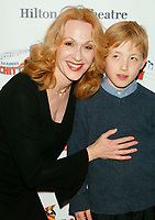 ***Jan Maxwell has passed away at the age of 61 after a long battle with cancer***<br /> ***FILE PHOTO*** Jan Maxwell and her son Will Lunny celebrating her Opening Night performance in the New Broadway musical CHITTY CHITTY BANG BANG at the Hilton Theatre on West 42 Street with an after party at the Hilton Hotel in New York City. April 28, 2005 <br /> CAP/MPI/JOM<br /> &copy;JOM/MPI/Capital Pictures
