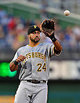 17 May 2012: Pittsburgh Pirates infielder Pedro Alvarez in action against the Washington Nationals at Nationals Park in Washington, DC. The Pirates defeated the Nationals 5-3 in the second game of their 2-game series. Mandatory Credit: Ed Wolfstein Photo