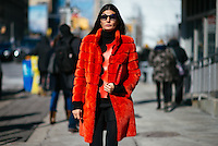 Giovanna Battaglia attends Day 8 of New York Fashion Week on Feb 19, 2015 (Photo by Hunter Abrams/Guest of a Guest)