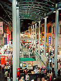 SINGAPORE, Asia, high angle view of food court at Chinatown