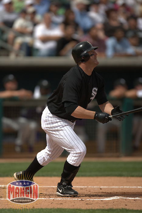 Jim Thome. Baseball: Arizona Diamondbacks vs Chicago White Sox spring training game at Tucson Electric Park in Tucson, AZ on March 4, 2006. Photo by Brad Mangin
