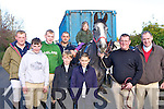 Fred O'Connor, Darren O'Keeffe, Timmy O'Connor, Mike, Kate Cronin, William O'Keeffe, Jerry and Pat O'Connor at the Kerry County Hunt in Currow on Sunday