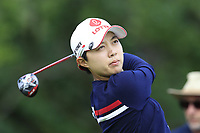 Hyo Joo Kim (KOR) tees off the 5th tee during Friday's Round 2 of The Evian Championship 2018, held at the Evian Resort Golf Club, Evian-les-Bains, France. 14th September 2018.<br /> Picture: Eoin Clarke | Golffile<br /> <br /> <br /> All photos usage must carry mandatory copyright credit (&copy; Golffile | Eoin Clarke)