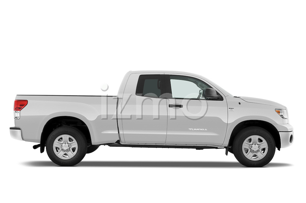 Passenger side profile view of a 2010 Toyota Tundra Double Cab 2WD.