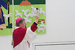 Bishop Smith blesses the school as Mary Hanafin opens Scoil Oilibheir Naofa...(Photo credit should read Jenny Matthews www.newsfile.ie)....This Picture has been sent you under the condtions enclosed by:.Newsfile Ltd..The Studio,.Millmount Abbey,.Drogheda,.Co Meath..Ireland..Tel: +353(0)41-9871240.Fax: +353(0)41-9871260.GSM: +353(0)86-2500958.email: pictures@newsfile.ie.www.newsfile.ie.