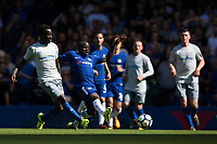 Everton's Idrissa Gueye under pressure from Chelsea's Ngolo Kante         <br /> <br /> <br /> Photographer Craig Mercer/CameraSport<br /> <br /> The Premier League - Chelsea v Everton - Sunday 27th August 2017 - Stamford Bridge - London<br /> <br /> World Copyright &copy; 2017 CameraSport. All rights reserved. 43 Linden Ave. Countesthorpe. Leicester. England. LE8 5PG - Tel: +44 (0) 116 277 4147 - admin@camerasport.com - www.camerasport.com