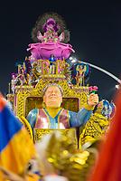 SÃO PAULO, SP, 09.03.2019 - CARNAVAL-SP - Integrante da escola de samba Rosas de Ouro durante Desfile das campeãs do Carnaval de São Paulo, no Sambódromo do Anhembi em Sao Paulo, na madrugada deste sábado, 09. (Foto: Anderson Lira/Brazil Photo Press/Folhapress)