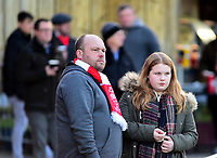 Lincoln City fans enjoy the pre-match atmosphere<br /> <br /> Photographer Andrew Vaughan/CameraSport<br /> <br /> The EFL Sky Bet League Two - Lincoln City v Port Vale - Tuesday 1st January 2019 - Sincil Bank - Lincoln<br /> <br /> World Copyright © 2019 CameraSport. All rights reserved. 43 Linden Ave. Countesthorpe. Leicester. England. LE8 5PG - Tel: +44 (0) 116 277 4147 - admin@camerasport.com - www.camerasport.com