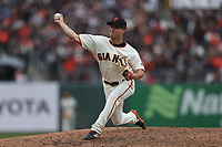 SAN FRANCISCO, CA - APRIL 5:  Trevor Gott #58 of the San Francisco Giants pitches against the Tampa Bay Rays during the game at Oracle Park on Friday, April 5, 2019 in San Francisco, California. (Photo by Brad Mangin)
