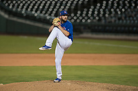 AZL Cubs 1 relief pitcher Corey Black (43) delivers a pitch in a rehab assignment during an Arizona League game against the AZL Reds at Sloan Park on July 13, 2018 in Mesa, Arizona. The AZL Cubs 1 defeated the AZL Reds 4-1. (Zachary Lucy/Four Seam Images)